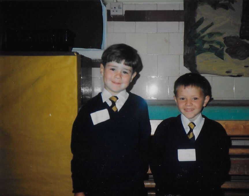 Derek Howie first day at school