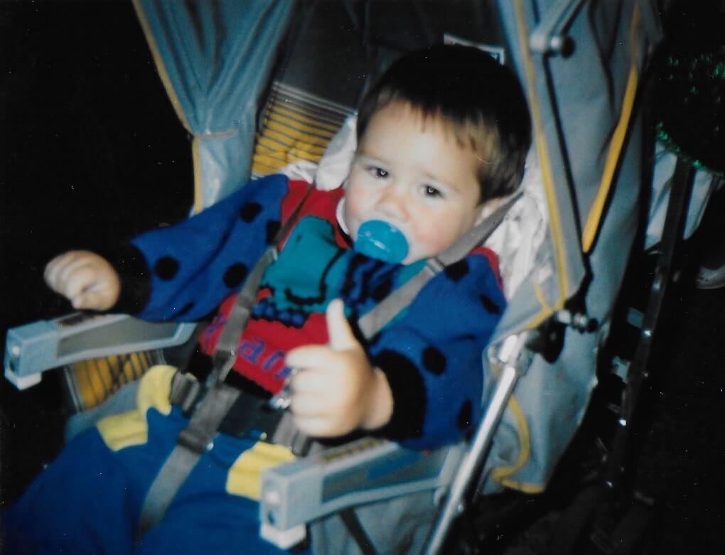 Derek as a baby