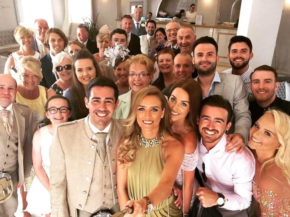 Guests at Derek Howie's wedding