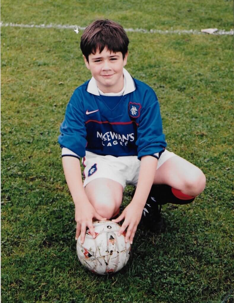 Derek Howie playing for Rangers